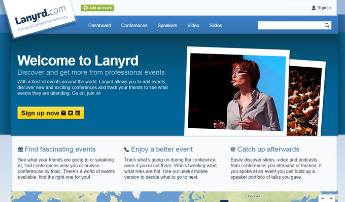 lanyrd conference events website community