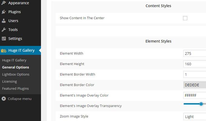 huge it gallery plugin wordpress slideshow