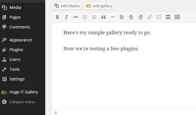 hugeit wordpress plugin add gallery