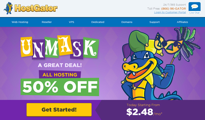 hostgator deal signup page discount