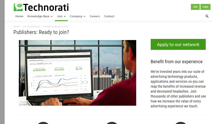technorati media publisher cpm network