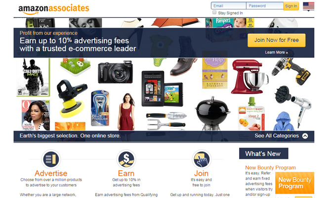 amazon associates program affiliates website
