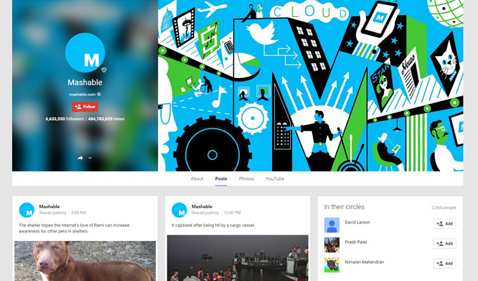 mashable gplus google plus page