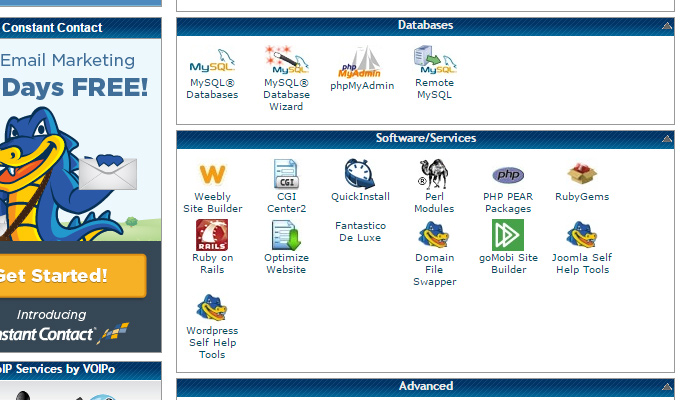create mysql databases link cpanel
