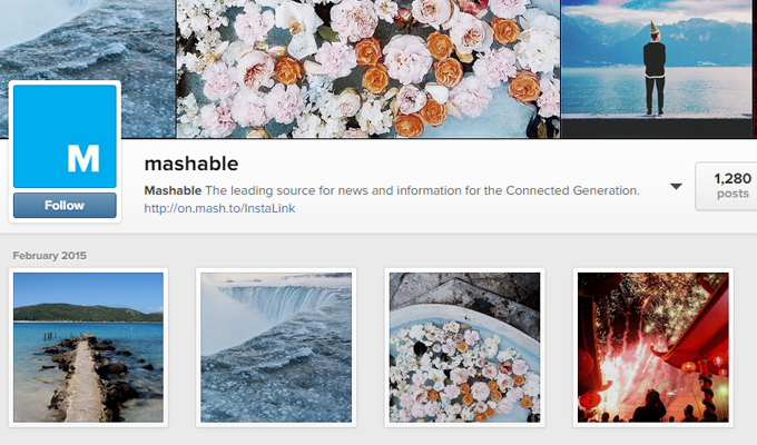 instagram profile page social photos