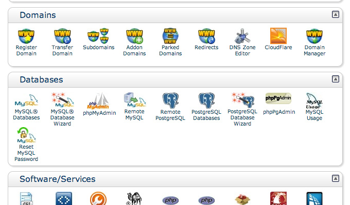 create databases new setup cpanel