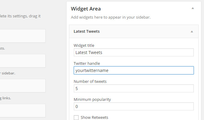 latest tweets widget wordpress plugin