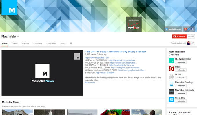 youtube channel videos mashable