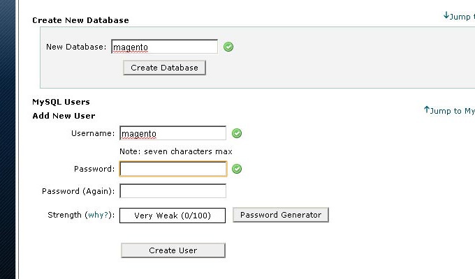 create new database hostgator setup cpanel