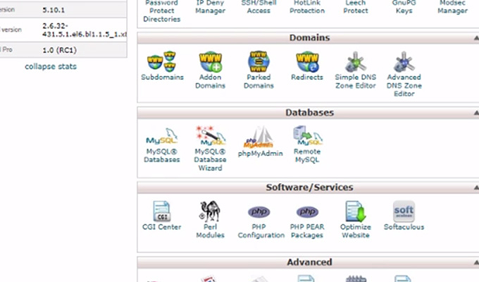 softaculous installer cpanel icon link